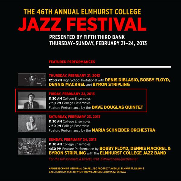Dave Douglas Quintet at Elmhurst Jazz Festival
