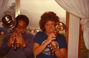Laurie Frink with Dizzy Gillespie